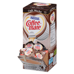 ESNES35115CT - Liquid Coffee Creamer, Cafe Mocha, 0.375 Oz Cups, 50-box, 4 Box-carton