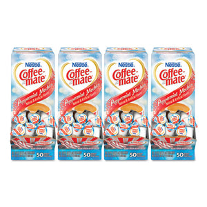 ESNES76060CT - Liquid Coffee Creamer, Peppermint Mocha, 0.375 Oz Mini Cups, 50-box, 4-carton