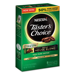 ESNES86073 - Taster's Choice Decaf House Blend Instant Coffee, 0.1oz Stick, 5-box, 12 Bx-ctn