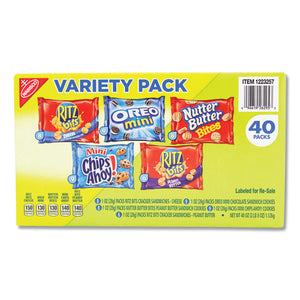 ESNFG1284253 - Mini Snack Packs, 1 Oz, Variety Pack, 40 Per Carton