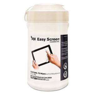 ESNICP03672 - Pdi Easy Screen Cleaning Wipes, 9 X 6, White, 70-canister, 12-ctn