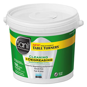 ESNICP0432P - MULTI-SURFACE CLEANING AND DEGREASING WIPES, 11 1-2 X 10, 100-PAIL, 2 PAILS-CT
