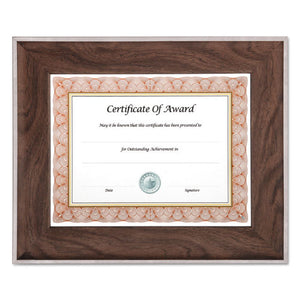 ESNUD15152 - Executive Series Document And Photo Frame, 8 1-2 X 11, Mahogany-silver Frame