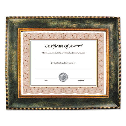 ESNUD15159 - Executive Series Document And Photo Frame, 8 1-2 X 11, Brown Frame