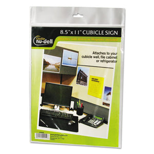 ESNUD37085Z - Clear Plastic Sign Holder, All-Purpose, 8 1-2 X 11