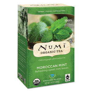 ESNUM10104 - Organic Teas And Teasans, 1.4oz, Moroccan Mint, 18-box