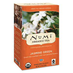 ESNUM10108 - Organic Teas And Teasans, 1.27oz, Jasmine Green, 18-box