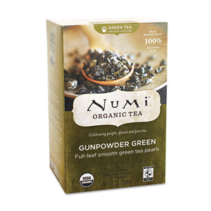 ESNUM10109 - Organic Teas And Teasans, 1.27oz, Gunpowder Green, 18-box