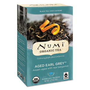ESNUM10170 - Organic Teas And Teasans, 1.27oz, Aged Earl Grey, 18-box