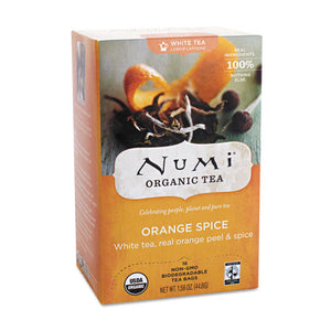 ESNUM10240 - Organic Teas And Teasans, 1.58oz, White Orange Spice, 16-box