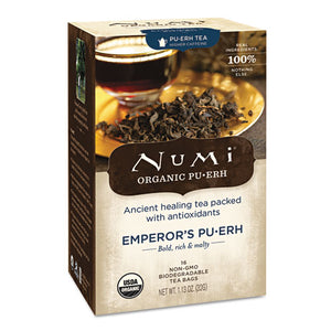 ESNUM10350 - Organic Teas And Teasans, 0.125oz, Emperor's Puerh, 16-box