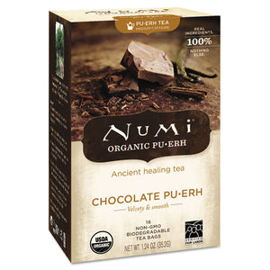 ESNUM10360 - Organic Tea, Chocolate Puerh, 16-box