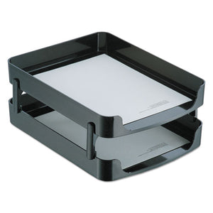 ESOIC22236 - 2200 Series Front-Loading Desk Tray, Two Tiers, Plastic, Letter, Black