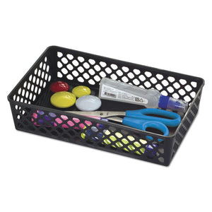 "ESOIC26202 - RECYCLED SUPPLY BASKET, 10.0625"" X 6.125"" X 2.375"", BLACK"