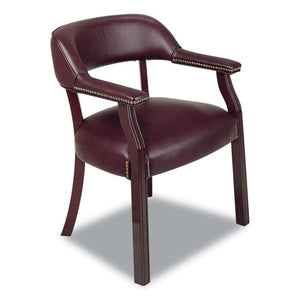Work Smart Traditional Vinyl Guest Chair, Jamestown Oxblood