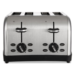 ESOSRRWF4S - Extra Wide Slot Toaster, 4-Slice, 12 3-4 X 13 X 8 1-2, Stainless Steel