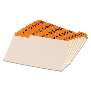 ESOXF04634 - Laminated Tab Index Card Guides, Daily, 1-5 Tab, Manila, 4 X 6, 31-set