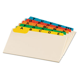 ESOXF04635 - Laminated Tab Index Card Guides, Alpha, 1-5 Tab, Manila, 4 X 6, 25-set