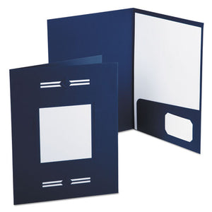 ESOXF10072 - Imperial Series Laserview Business Portfolio, Premium Paper, Blue, 10-pack