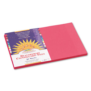 ESPAC6007 - Construction Paper, 58 Lbs., 12 X 18, Scarlet, 50 Sheets-pack