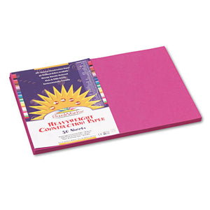 ESPAC6407 - Construction Paper, 58 Lbs., 12 X 18, Magenta, 50 Sheets-pack