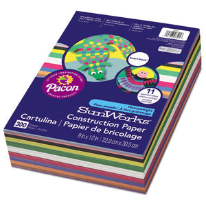 ESPAC6525 - Construction Paper Smart-Stack, 58 Lbs., 9 X 12, Assorted, 300 Sheets-pack