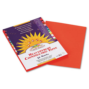 ESPAC6603 - Construction Paper, 58 Lbs., 9 X 12, Orange, 50 Sheets-pack