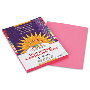 ESPAC7003 - Construction Paper, 58 Lbs., 9 X 12, Pink, 50 Sheets-pack