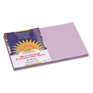 ESPAC7107 - Construction Paper, 58 Lbs., 12 X 18, Lilac, 50 Sheets-pack