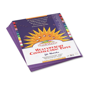 ESPAC7203 - Construction Paper, 58 Lbs., 9 X 12, Violet, 50 Sheets-pack