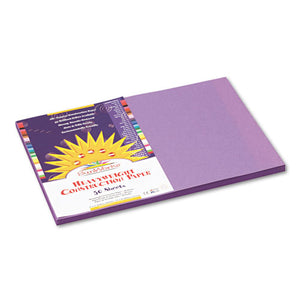 ESPAC7207 - Construction Paper, 58 Lbs., 12 X 18, Violet, 50 Sheets-pack
