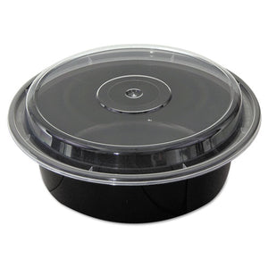 "ESPCTNC729B - Versatainers, Black-clear, 32 Oz, 7""dia X 2""h, 150-carton"