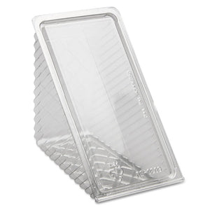 ESPCTY11334 - Hinged Lid Sandwich Wedges, Plastic, Clear, 6 1-2 X 3 X 3 1-4, 85-pk, 3 Pk-ct