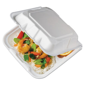 ESPCTYTD18803 - Foam Hinged Lid Containers, White, 8.4375 X 8 1-8 X 3, 3-Compartment, 150-crtn
