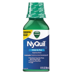 ESPGC01426EA - Nyquil Cold & Flu Nighttime Liquid, 12 Oz Bottle