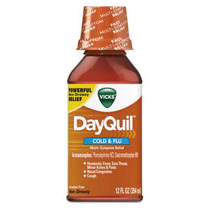 ESPGC01436EA - Dayquil Cold & Flu Liquid, 12 Oz Bottle