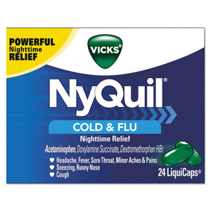 ESPGC01440 - Nyquil Cold & Flu Nighttime Liquicaps, 24-box, 24 Box-carton