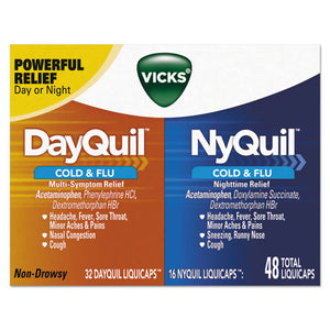 ESPGC01452 - Dayquil-nyquil Cold & Flu Liquicaps Combo Pack, 32 Day-16 Night, 12-carton