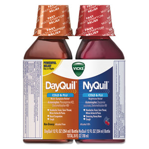 ESPGC01479PK - Dayquil-nyquil Cold & Flu Liquid Combo Pack, 12 Oz Day, 12 Oz Night