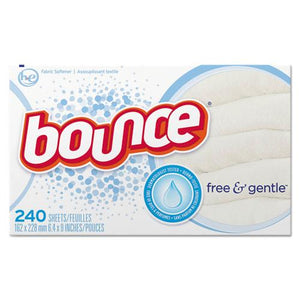 ESPGC24684 - Free & Gentle Fabric Softener Dryer Sheets, Unscented, 240-box, 6 Box-carton