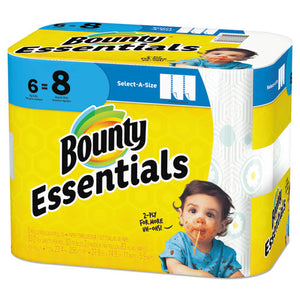 ESPGC74651 - ESSENTIALS SELECT-A-SIZE PAPER TOWELS, 2-PLY, 83 SHEETS-ROLL, 6 ROLLS-CARTON