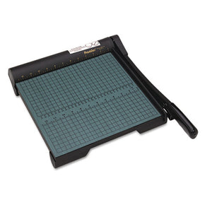 "ESPREW12 - The Original Green Paper Trimmer, 20 Sheets, Wood Base, 12 1-2""x 12"""