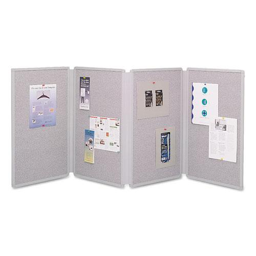 ESQRT773630 - Tabletop Display Presentation Board, 72 X 30, Gray Surface, Gray Frame