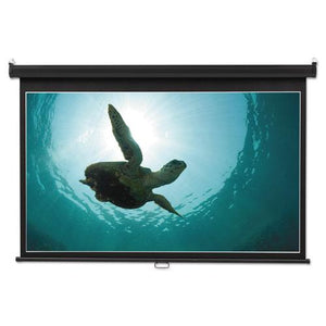 ESQRT85571 - Wide Format Wall Mount Projection Screen, 45 X 80, White