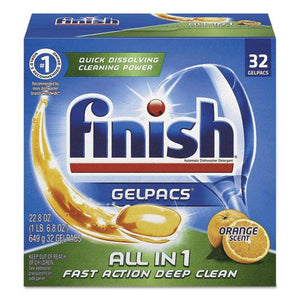 ESRAC81053 - Dish Detergent Gelpacs, Orange Scent, Box Of 32 Gelpacs