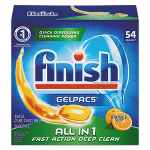 ESRAC81181CT - Dish Detergent Gelpacs, Orange Scent, 54-bx, 4 Bx-ct