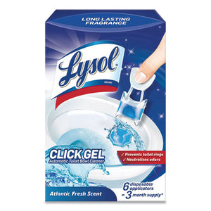 Click Gel Automatic Toilet Bowl Cleaner, Ocean Fresh, 6-box