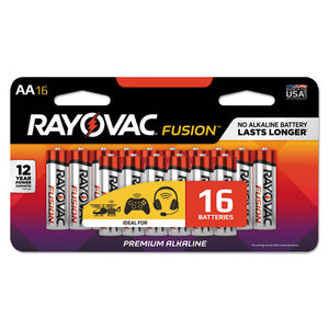 ESRAY81516LTFUSK - Fusion Advanced Alkaline Batteries, Aa, 16-pack