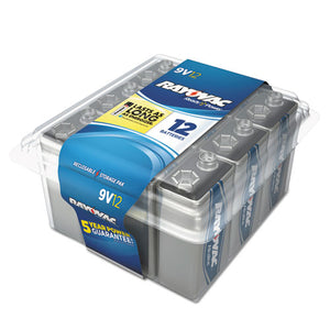 ESRAYA160412PPK - Alkaline Battery, 9v, 12-pack