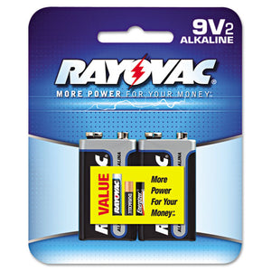 ESRAYA16042K - High Energy Premium Alkaline Battery, 9v, 2-pack